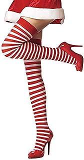 thematys®, thematys Medias de Rodilla de Mujer en 5 diseños Diferentes - Calcetines de diseño Retro de Rayas para niñas y Mujeres (Style 5)