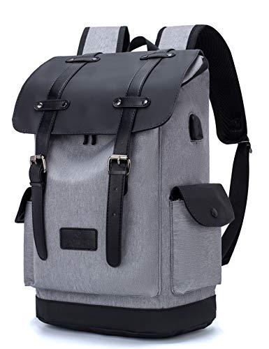 Laptop Rucksack Damen Herren 15,6 Zoll Schulrucksack Mädchen Teenager Unisex College Schule Daypacks Reisetasche Büchertaschen mit USB-Ladeanschluss für Arbeit/Campus/Freizeit/Frauen/Blumen