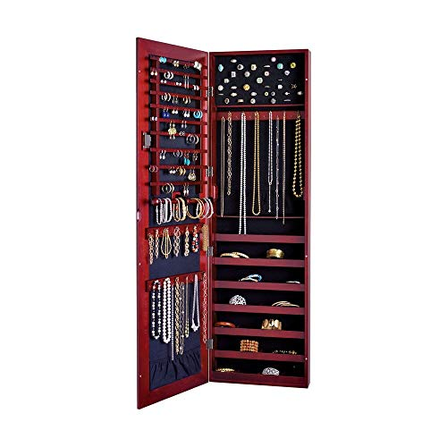 Ross-Simons 'Safekeeper Wall Mirror Jewelry Cabinet (Cherry)