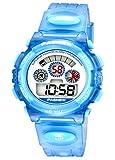 Kids Digital Sport Waterproof Rubber Resin Band Watch with Chronograph, Alarm, Classic Design Calendar Date Window for Boys Girls Children Watches Blue