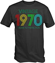 6TN Hombre Camiseta Vintage 1970 Aged To Perfection