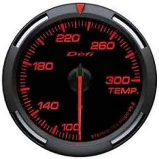 Defi DF06702 Racer Water/Oil Temperature Gauge, Red, 52mm