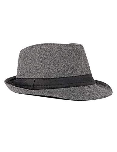 FBBULES Elegante Sombrero de Jazz Sombrero Fieltro Panamá ala Ancha Hat Fedora...