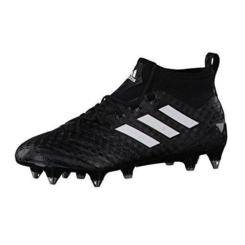 Ace 17.1 Primeknit SG Football Boots - Core Black/White/Night Metallic - Size 42