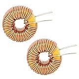 Filo dell'induttore toroidale da 20 pezzi, bobina di rame di alta qualità, filo dell'induttore toroidale, induttori del nucleo toroidale 100UH, bobina dell'induttore del circuito stampato, 0,6 mm