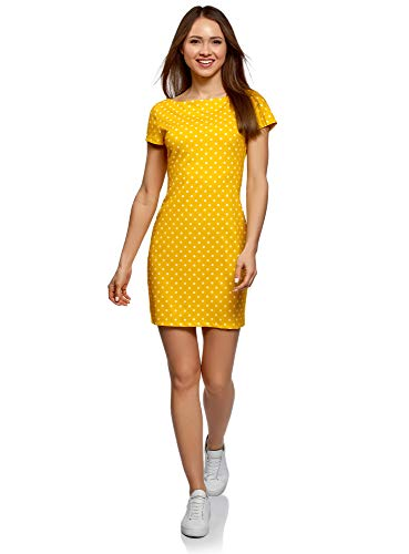Vestido amarillo ajustado de punto