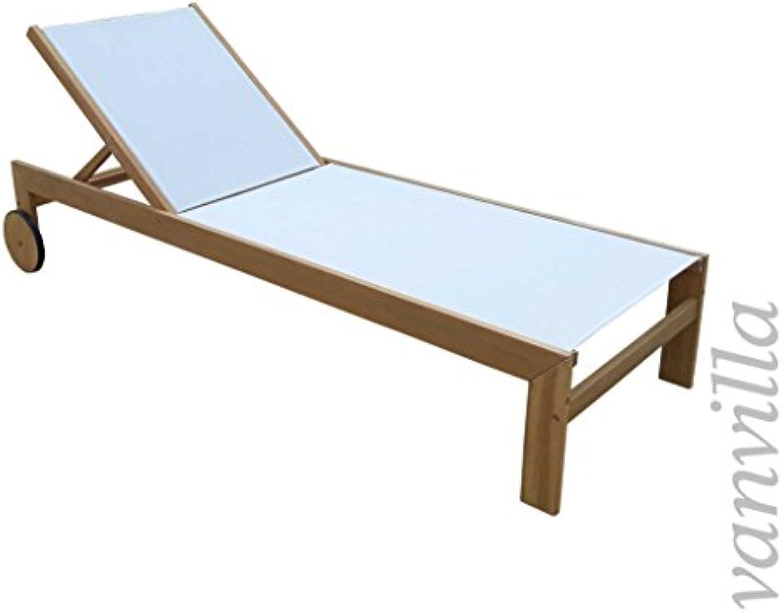 Vanvilla Sonnenliege Gartenliege Holz Relaxliege Liegestuhl Ramos
