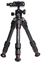 Besnfoto Mini Tripod Desktop Carbon Fiber Tripod for DSLR Camera and Phone Compact Lightweight with 360 Degree Ball Head Built-in Phone Mount Portable for Traveling Load up to 11Pounds/5 Kilograms