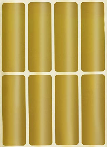 Royal Green四角 シール 長方形 ラベルシール 四角型ステッカー 76㎜ × 25㎜ 金 アソート ステッカー 7.6㎝ × 2.5㎝ 手帳シール 名前タグ まとめ買い 引っ越しタグ 在庫 ファイル フォルダー カラーラベル 120片 Royal Green