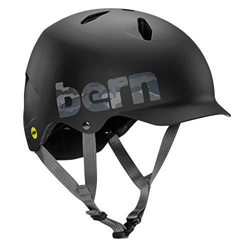 Bern Bandito EPS MIPS Casco de Ciclismo, Unisex, Logotipo de Camuflaje Negro Mate, M-L
