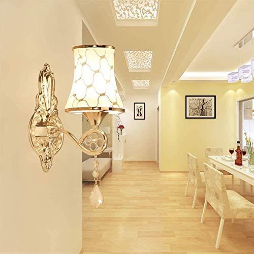 Swei Moderne minimalistische wandlamp warm slaapkamer bedlampje woonkamer wandlamp enkele kop kristal veranda creatieve persoonlijkheid lamp