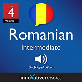 Learn Romanian - Level 4: Intermediate Romanian audiobook cover art