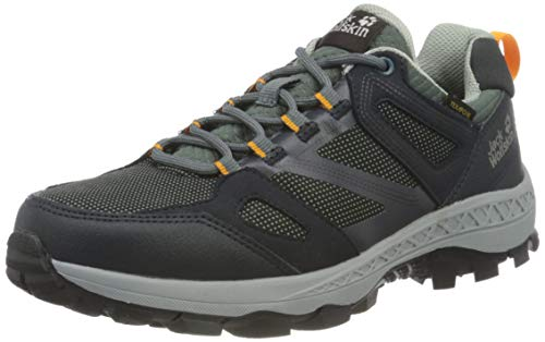Jack Wolfskin Damen Downhill Texapore Low Walking-Schuh, Dark Blue/Grey, 39 EU