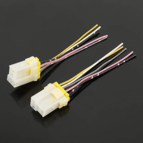 XUJINQI autolicht accessoires decoratief, 5 PIN relais montaiset sokkel houder onderkant met draad (10 stuks)