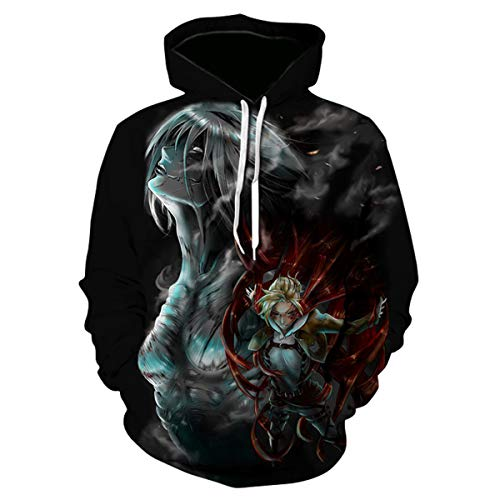 CHENMA Men Attack on Titan 3D Print Pullover Hoodie Sweatshirt with Kangaroo Pocket MUK S Color 7
