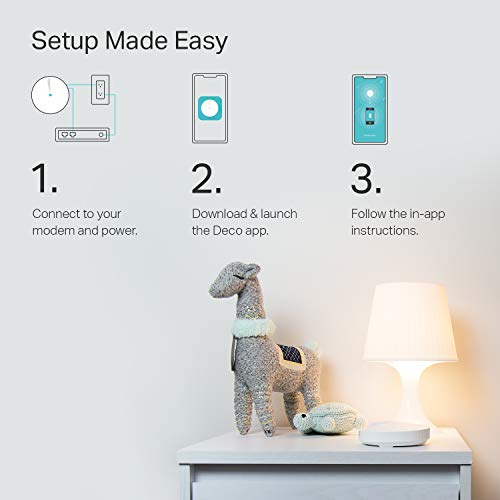 TP-Link Deco Mesh WiFi System –Up to 5   ,500 sq. ft. Whole Home Coverage and 100+ Devices,WiFi Router/Extender Replacement, Parental Controls/Anitivirus, Seamless Roaming(Deco M5 3-pack)