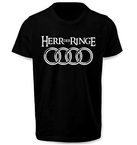 Herr Der Ringe Herren T Shirt T-Shirt Prime Quality Kurzarm (Schwarz, XL)
