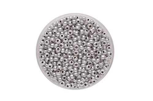 GLOREX Rocailles 4,5 mm,17g Grau 4 x 4 x 1.5 cm Glas
