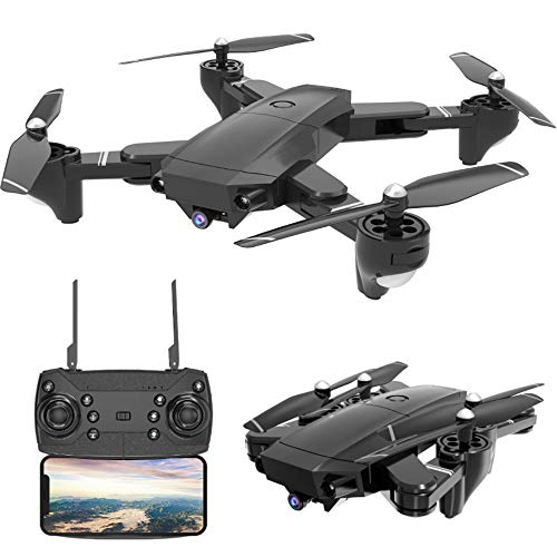Dronewith Camera 4K Foldable RC Quadcopters 1080P SX20 2.4GHz Remote/Phone/Tablet Controlled RTF Multirotors with 120° Wide-Angle Full HD Camera Video Headless RTH 360° Flip