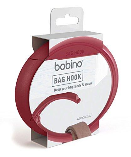 BOBINO(ボビーノ)バッグフックバーガンディーW10.5×D1.5×H7.5cmテーブルデスクオフィス椅子バッグずり落ち防止自転車ハンドル盗難防止シンプルおしゃれ91560