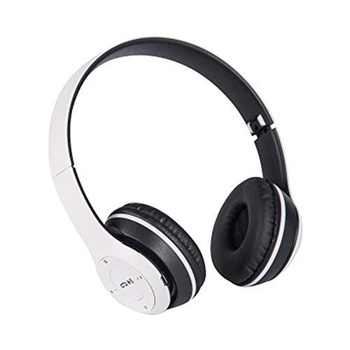 TORENG Auriculares estéreo Hifi, plegables Bluetooth sobre la oreja con micrófono, estéreo de alta fidelidad, graves profundos, inalámbricos, para juegos, oficina, PC, teléfono