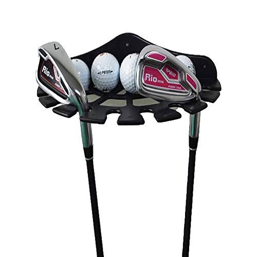 ゴルフクラブオーガナイザーとゴルフボールディスプレイケース、ゴルフクラブディスプレイシェルフ、ゴルフボールホルダー、ゴルフクラブディスプレイブラケット壁マウントラックストレージ、ゴルフ機器の保管と整理に最適。