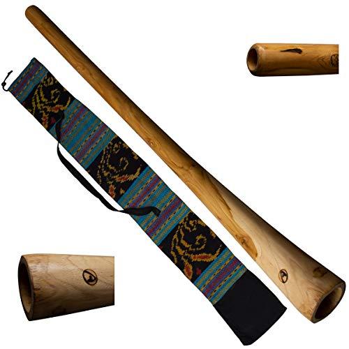 Australian Treasures - DIDGERIDOO: Natural Wood con borsa didgeridoo