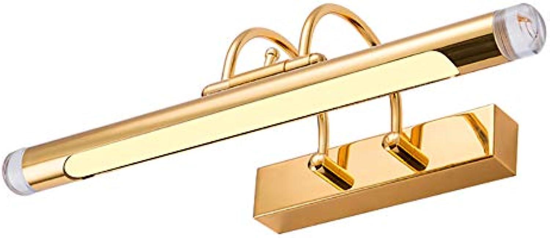 KTOL LED Einstellbar Licht im bad Wandleuchte, 12w Warmwei Gold Eitelkeitslichter Eisen Spiegel schrank licht Wasserdicht Anti-nebel Hardwirot-Warmwei 67cm12W