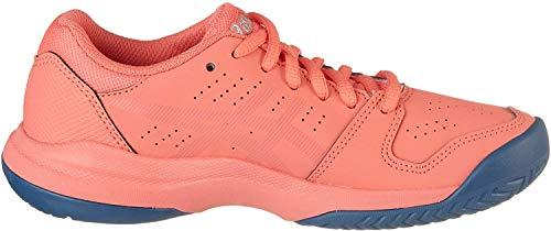 ASICS Gel-Game 7 GS, Zapatos de Tenis Unisex Niños, Rosso Papaya Silver 704, 32.5 EU