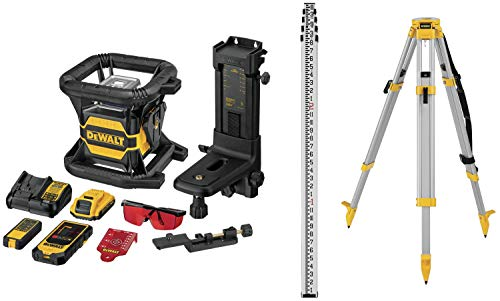 DEWALT 20V MAX Laser Level Kit, Rotary, Red, 2000-Foot Range (DW080LRSK)