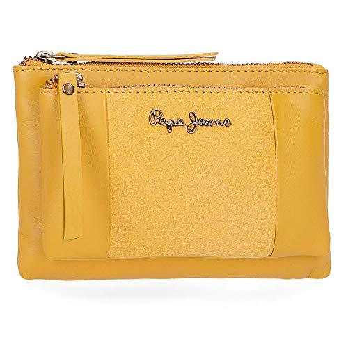 Pepe Jeans Double Geldbörse 17 cm, gelb (Gelb) - 7634264