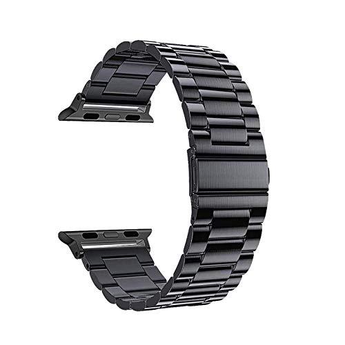 Adecuado para iwatch1 2 3 4 5 6 Correa de reloj de metal de acero inoxidable de la generación SE, correa de reloj compatible 38 / 40mm Correa de repuesto de 42 / 44mm