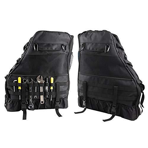 Gravere Bar Storage Bag Cage with Multi-Pockets for Jeep Wrangler JK JKU TJ LJ Unlimited 4 Doors - Pack of 2 Cost-Effective
