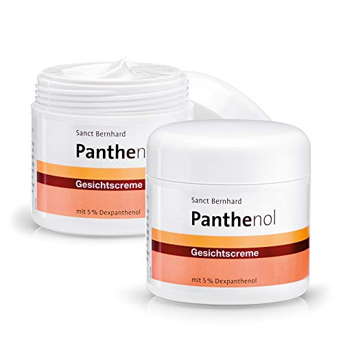 Sanct Bernhard Panthenol Gesichtscreme mit 5% Dexpanthenol, parfumfrei, ohne Farb- und Konservierungsstoffe, Inhalt 2x 100ml