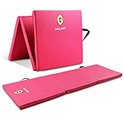 ✅ HIGH QUALITY MATERIAL GYMNASTIC MAT - The outer material is made from a superior non-slip, wipe clean, water and sweat resistant, high quality and durable toxin free PU leather. This offers excellent safety and hygiene every time you exercise. ✅ SU...