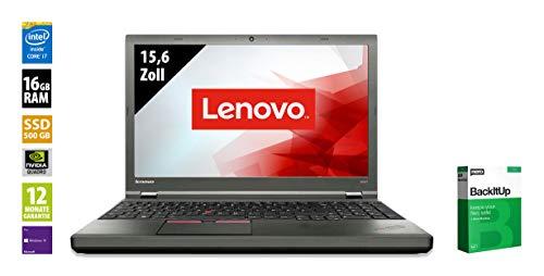 Lenovo ThinkPad W541-15,6 Zoll - Core i7-4810MQ @ 2,8 GHz - 16GB RAM - 500GB SSD - Nvidia Quadro K2100M - 3K (2880x1620) - Webcam - Win10Pro (Zertifiziert und Generalüberholt)