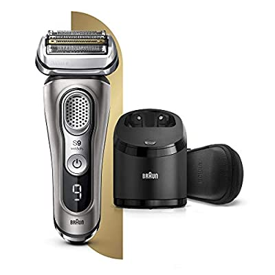 Braun Series 9 9385cc Latest Generation Electric Shaver, Clean and Charge Station, Leather Case Graphite from Procter & Gamble