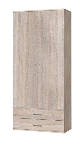 WILMES Ronny Mehrzweckschrank, Holzwerkstoff, Sonoma Eiche Dekor, 39x80x178 cm