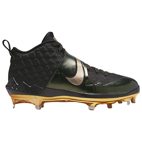 Nike Force Zoom Trout 6 Mens Baseball Cleat At3464-004 Size 11.5 Black/Metallic Gold