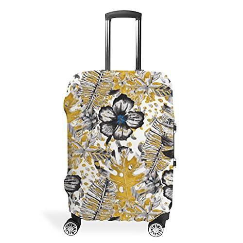 copri valigia Copri-valigia per piante tropicali Monstera con foglie di banana e fiori
