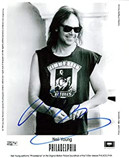 Neil Young signed 8x10 photo