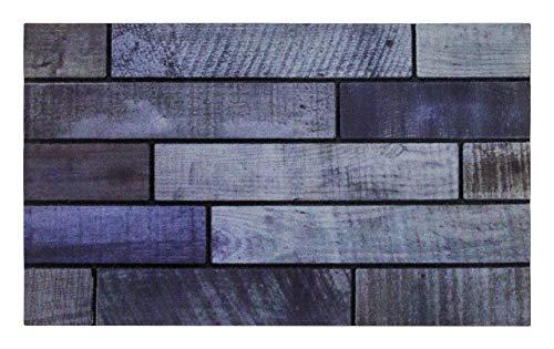 andiamo Gummifußmatte Fußabtreter Sauberlaufmatte - 100{c40683185e7bbe803df2884bcf6b4ab8df15bc0f25bcf9dd4659c11119d12524} Gummimaterial Anti-Rutsch Funktion Outdoor - 45 x 75 cm, Größe:45 x 75 cm, Farbe:Holz