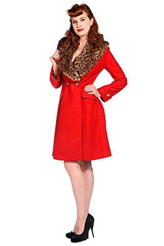 Banned Mantel Vintage Coat 1901 Rot S