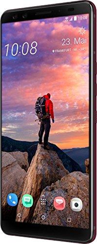 """Htc U12+ Smartphone da 6"""" Doppia Sim 4G, Rosso, 64 Gb"""