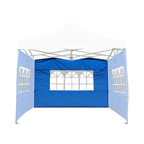 POHOVE Canopy Tent Sidewall Instant Canopy Sidewall Lateral Portátil Comercial Instant Shelter Tienda de campaña al aire libre Toldos instantáneos Pared lateral Tienda de tela para PopUp Canopy (Azul)