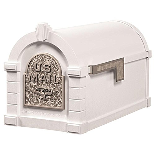 Gaines KS-23A - Eagle Keystone Series Mailboxes - White/Satin Nickel