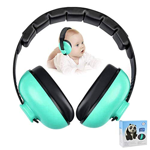 Noise Cancelling Headphones for Kids, Babies Ear Protection Earmuffs Noise Reduction for 0-3 Years Babies, Toddlers, Infant (Mint Green)