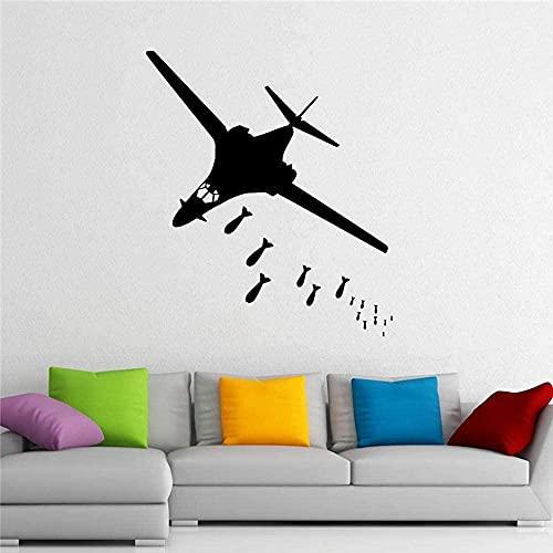 Avión bombardero RAF Fighter pegatina de pared avión ejército dormitorio avión militar calcomanía decoración sofá fondo extraíble 57X67 CM
