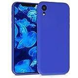 kwmobile custodia compatibile con apple iphone xr - cover in silicone tpu - back case per smartphone - protezione gommata blu elettrico