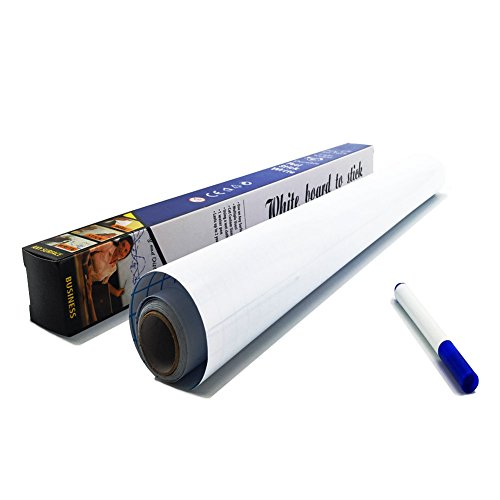 Self Adhesive Dry Erase Board - Whiteboard Paper - Stickers a Roll 17.7' x 78.7' Message Board Wallpaper Decal for School/Office/Home/Kid/Art/Decoration